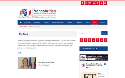 Screenshot of Team Page francobritishchamber.com - The Team | Franco-British Chamber of Commerce & Industry - captured Oct. 14, 2017