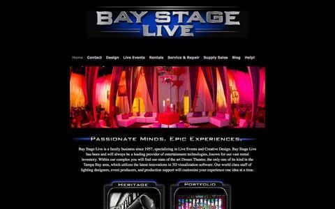 Screenshot of Home Page baystagelive.com - Bay Stage Live | - captured Dec. 29, 2015