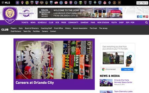 Screenshot of Jobs Page orlandocitysc.com - Careers | Orlando City Soccer Club - captured Feb. 7, 2016
