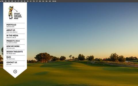 Screenshot of Home Page occmgolf.com - Ogilvy Clayton Cocking Mead | Golf Course Design - captured Jan. 30, 2015