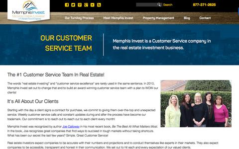 Screenshot of Support Page memphisinvest.com - Turnkey Real Estate Investing with Memphis Invest | Customer Service - captured Nov. 11, 2015