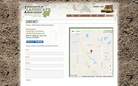 Screenshot of Contact Page indylandscape.com - Indianapolis Landscape Association  » CONTACT - captured Jan. 30, 2017