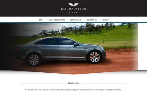 Screenshot of Contact Page gochauffeur.com.au - Contact Us - captured Oct. 8, 2014