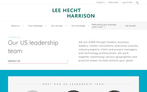 Screenshot of Team Page lhh.com - Meet The US Leadership Team At Lee Hecht Harrison, Ready To Achieve Your Goals - captured Jan. 19, 2019