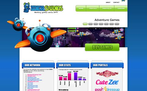 Screenshot of Home Page ideastudios.ro - Online Games and Gaming Portals @ IDEA Studios - captured Sept. 19, 2014