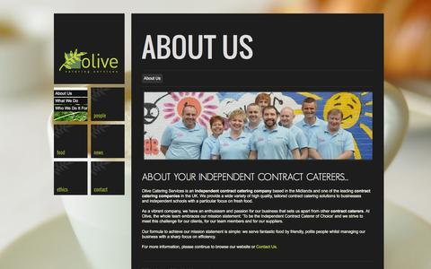 Screenshot of About Page olive-catering.com - Independent contract caterer | Contract Caterers | Olive Catering - captured Feb. 13, 2016