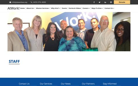 Screenshot of Team Page atworkwa.org - Atwork Staff | AtWork! - captured Oct. 4, 2018