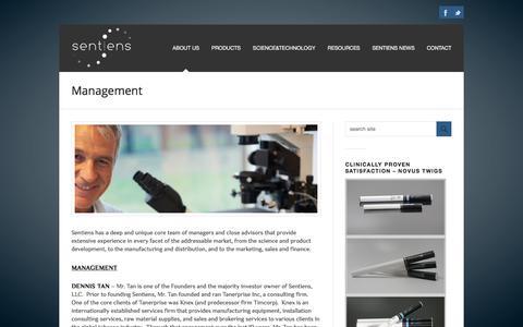 Screenshot of Team Page sentiens.us - Management | About Us | Sentiens | Sentiens LLC - captured Nov. 12, 2017