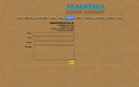 Screenshot of Contact Page aracataca.com.co - Contact - captured Nov. 19, 2016