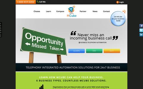 Screenshot of Support Page mcube.com - MCube help your Business - Cloud Telephony Solution - captured Feb. 10, 2016