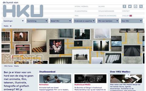 Screenshot of Press Page hku.nl - HKU - Media - captured July 11, 2017