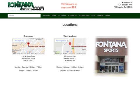 Screenshot of Hours Page fontanasports.com - Hours | Fontana Sports - captured Nov. 25, 2016