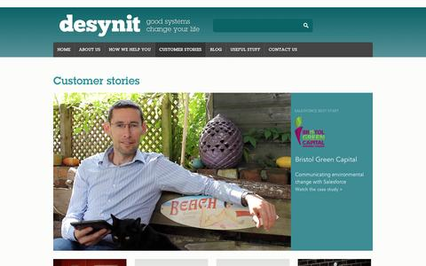 Screenshot of Case Studies Page desynit.com - Customer stories | Desynit - captured Oct. 5, 2014
