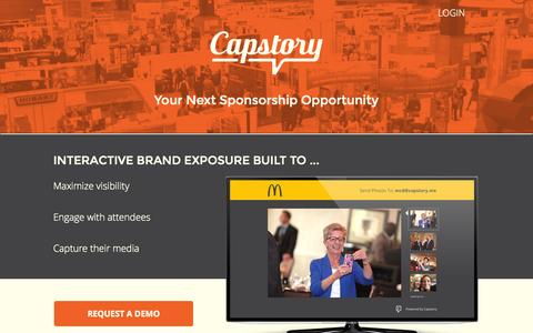 Screenshot of Home Page capstory.me - Capstory || Engage Your Event Attendees - captured Nov. 5, 2015