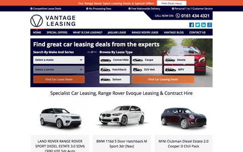 Screenshot of Home Page vantage-leasing.com - Car Lease Deals | Range Rover Lease Deals | Vantage Leasing - captured Dec. 3, 2016