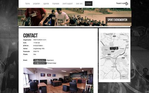 Screenshot of Contact Page partycrew.nl - PARTYCREW   Evenementenorganisatie - Contact - captured Sept. 29, 2014