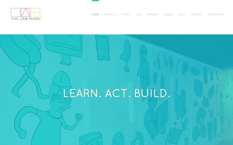 Screenshot of Home Page thelabmiami.com - The LAB Miami - captured July 11, 2014