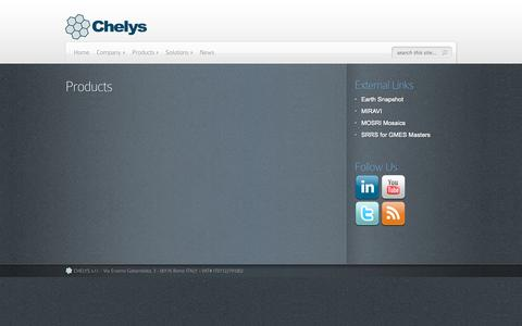 Screenshot of Products Page chelys.eu - Products | CHELYS - captured Sept. 26, 2014