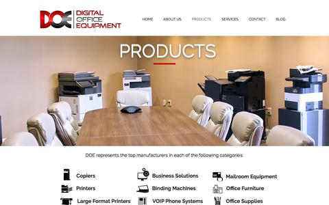 Screenshot of Products Page calldoe.com - Products | Georgia | Digital Office Equipment - captured July 8, 2018