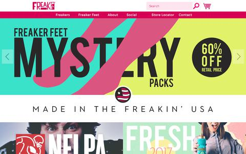 Screenshot of Home Page freakerusa.com - Freaker USA - The one size fits all beverage insulator! Made in USA! - captured June 6, 2017