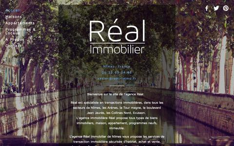 Screenshot of Home Page real-immo.fr - Réal Immobilier - captured Oct. 6, 2014