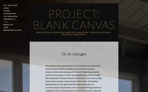Screenshot of Press Page projectblankcanvas.com - Blog — Project: Blank Canvas - captured Sept. 30, 2014
