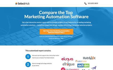 Screenshot of Landing Page selecthub.com - Top Marketing Automation Software Report by SelectHub - captured May 22, 2017