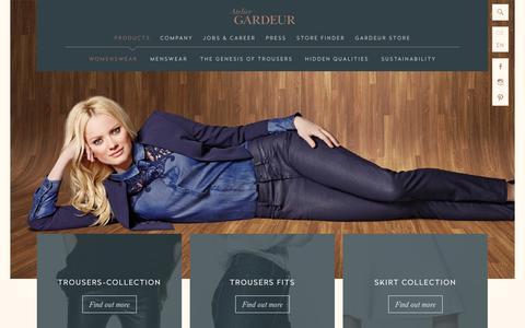 Screenshot of Products Page atelier-gardeur.com - Womenswear - Atelier GARDEUR - captured Oct. 1, 2014