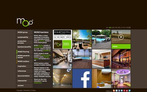 Screenshot of Home Page moso-bamboo.com - MOSO Bamboo | Bamboo flooring, bamboo panels, bamboo veneer & bamboo decking - captured Oct. 5, 2014
