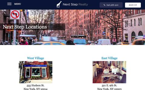 Screenshot of Locations Page thenextsteprealty.com - Locations | Next Step Realty - captured Nov. 3, 2019