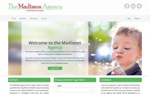 Screenshot of Home Page themadissonagency.com - The Madisson Agency - captured Nov. 10, 2017