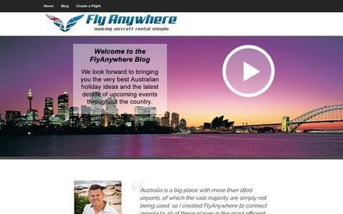 Screenshot of Blog flyanywhere.com.au captured Oct. 29, 2014