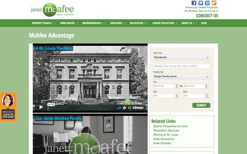 Screenshot of Testimonials Page janetmcafee.com - St. Louis Real Estate Agency Specializing in Luxury Homes, Find a Realtor - Janet McAfee Inc. | Janet McAfee Real Estate - captured Oct. 16, 2017