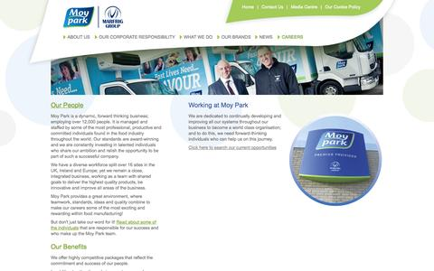 Screenshot of Jobs Page moypark.com - Welcome to Moy Park Limited - Careers - captured Sept. 18, 2014