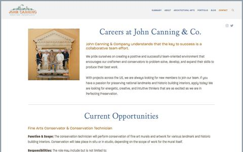 Screenshot of Jobs Page johncanningco.com - Careers — John Canning Co. - captured Oct. 14, 2018