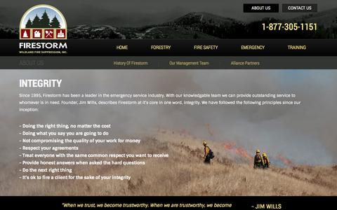 Screenshot of About Page firestormfire.com - About Us | Firestorm.com - captured Oct. 6, 2014