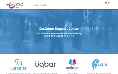 Screenshot of Support Page etglatam.com - Home - captured Sept. 29, 2018