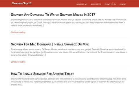 Screenshot of Home Page chocolatechip-ui.com - ChocolateChip UI - captured Oct. 19, 2018