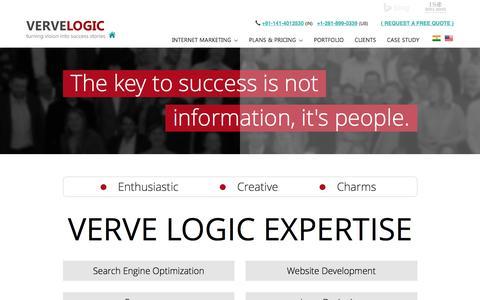 Screenshot of About Page vervelogic.com - Verve Logic   About Us - captured Oct. 27, 2015