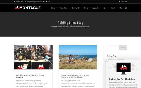 Screenshot of Blog montaguebikes.com - Folding Bike Blog   Montague Bikes - captured Nov. 13, 2019