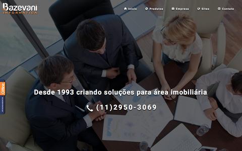 Screenshot of Home Page bazevani.com.br - Bazevani Informática Software e Websites para Imobiliaria - captured April 9, 2016