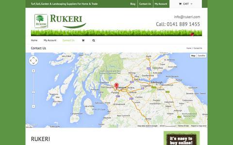 Screenshot of Contact Page rukeri.com - Contact Us   Buy Turf Online UK   Buy Aggregates Online   Rukeri - captured Sept. 30, 2014