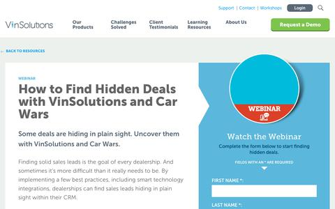 Screenshot of Case Studies Page vinsolutions.com - VinSolutions - Connecting with Customers After the Close - captured Dec. 3, 2019