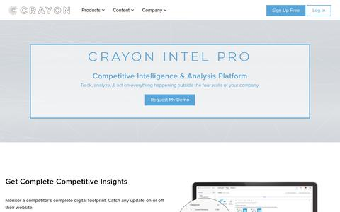 Competitive Analysis Tool | Crayon Competitive Analysis Software