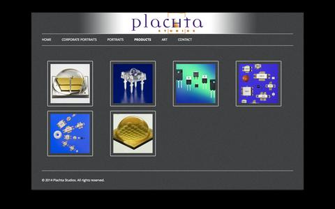 Screenshot of Products Page plachta.com - Extreme Closeups | Plachta Studios - captured Oct. 2, 2014