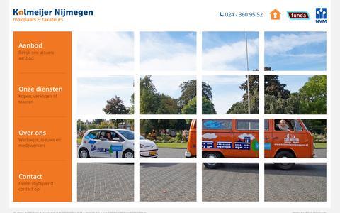 Screenshot of Home Page kolmeijernijmegen.nl - Kolmeijer Makelaars in Nijmegen - captured Sept. 6, 2015