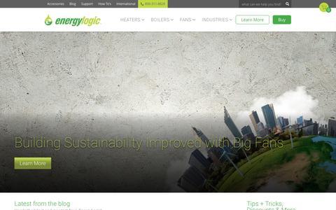 Screenshot of Blog energylogic.com - HVLS Fans, Waste Oil Heaters, Boilers and Tanks | Latest from the Blog | EnergyLogic Blog - captured May 19, 2017