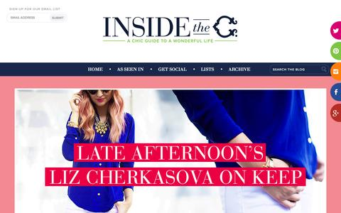 Screenshot of Blog cwonder.com - Inside the C. | A chic guide to a wonderful life - captured Sept. 19, 2014