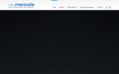 Screenshot of Home Page mercurio-platform.com - Mercurio Platform - captured Sept. 30, 2014