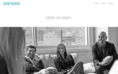 Screenshot of Team Page gopangea.com - Team | Pangea - captured July 19, 2014